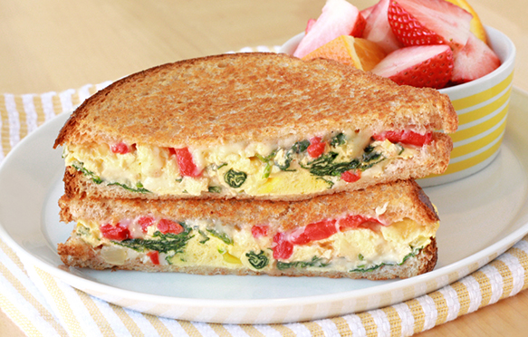 Healthy Egg N Veggie Breakfast Sandwich Recipe IHOP Griddle Melt Swap
