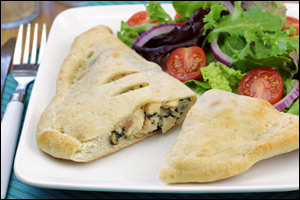 Guilt free chicken alfredo calzone olive garden swap - Olive garden chicken alfredo pizza ...