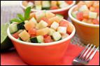 Cucumber-Melon Fruit Salad