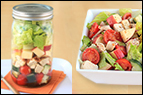 Fruity Bacon Chicken Salad in a Jar