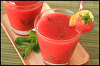Frozen Strawberry Mojitos