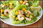Avocado-Shrimp Lettuce Cups