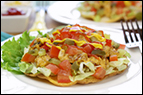 Meatless Cheeseburger Tostadas