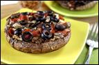 Mushroom-Bottomed Pizzas