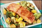 BBQ Salmon & Veggies Foil Pack