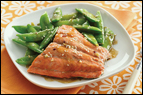 Sesame Salmon & Snap Peas Foil Pack