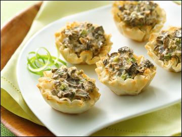 Mmmm-azing Mini Mushroom Tartlets PER SERVING 5 tartlets: