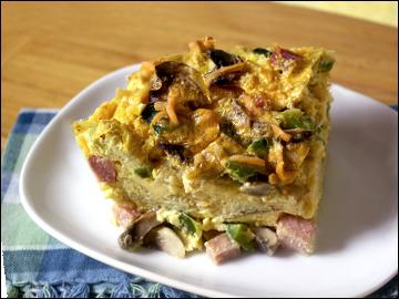 Egg Strata 300 recipes under 300 calories