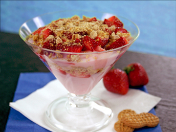 PB&J Yogurt Parfait Entire recipe: