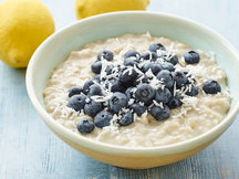 Healthy Lemon Blueberry Growing Oatmeal Recipe