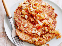 Healthy Apple Cinnamon Crunch Pancakes Recipe