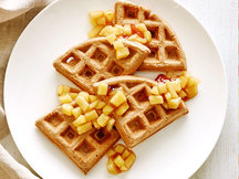 Healthy Apple Cinnamon Waffles Recipe