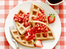 Healthy PB&J Waffles Recipe