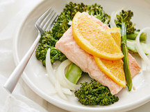 Healthy Orange Salmon with Broccolini Recipe
