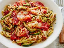 Healthy Z'paghetti Marinara with Shrimp Recipe