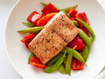 Healthy Balsamic Honey Salmon 'n Veggies Recipe
