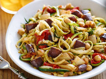 Healthy Ratatouille Z'paghetti with Chickpeas Recipe