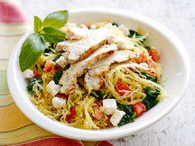 Healthy Mediterranean Spaghetti Squash with Chicken Recipe