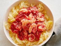 Healthy Shrimp Fra Diavolo Spaghetti Squash Recipe