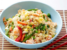 Healthy Hawaiian Shrimp Fried Rice with Pineapple Recipe