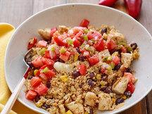 Healthy Southwest Chicken Cauliflower Rice Bowl Recipe