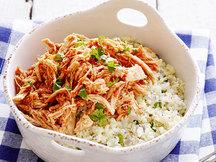 Healthy BBQ Chicken Cauliflower Rice Bowl Recipe