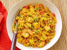 Healthy Cauliflower Rice Paella Recipe