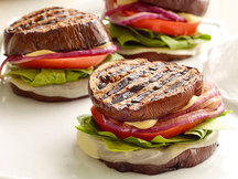 "Healthy Fork 'n Knife Eggplant ""Sandwiches"" Recipe"