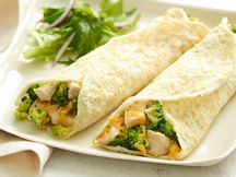 Healthy Cheesy Chicken & Broccoli Crepes Recipe