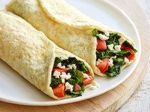 Healthy Spinach & Feta Crepes Recipe