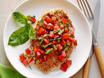 Healthy Crispy Bruschetta Chicken Recipe