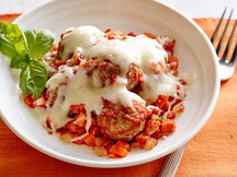 Healthy Cheesy 'n Saucy Skillet Meatballs Recipe