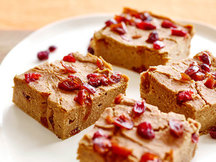Healthy Pumpkin Cranberry Bars Recipe