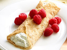 Healthy Raspberry Key Lime Crepes Recipe