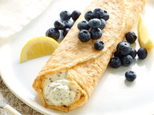 Healthy Blueberry Lemon Crepes Recipe