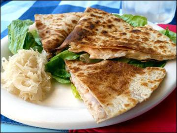 turkey reuben quesadilla PER SERVING entire quesadilla:
