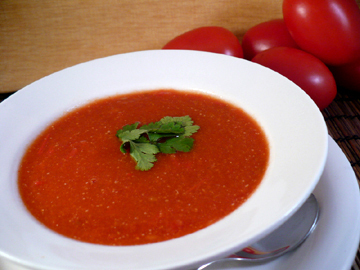 spicy tomato soup PER SERVING 1 cup:
