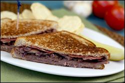 HG's Melty Mushroom, Bacon & Beef Sandwich