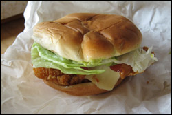 Wendy's Spicy Guacamole Chicken Club