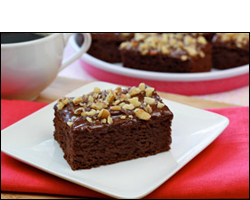 HG's Fudgy Frosted Walnut Brownies