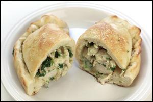 Olive Garden's Chicken Alfredo Calzone