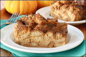 HG's Perfect Pumpkin Bread Pudding