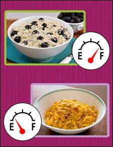 Hunger Games: <br/>Oatmeal vs. Regular Cereal!