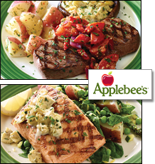 Applebee's Savory Cedar Salmon and Weight Watchers Steak