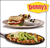 Denny's Fit Fare Breakfast Sandwich and Baja Skillet