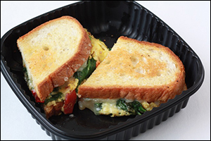 IHOP Spinach, Roasted Red Pepper & Cheese Griddle Melt