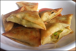 Vegetable Samosas, Average