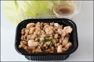 CPK's Lettuce Wraps with Chicken & Shrimp