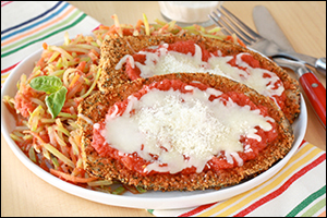 Hungry Girl's Pan-Fried Eggplant Parm