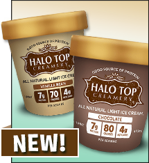 Halo Top Creamery All Natural Light Ice Cream